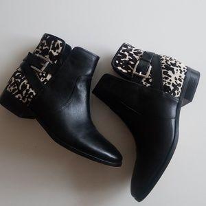 dff19f867d9 Michael Kors Leather Zebra Boots
